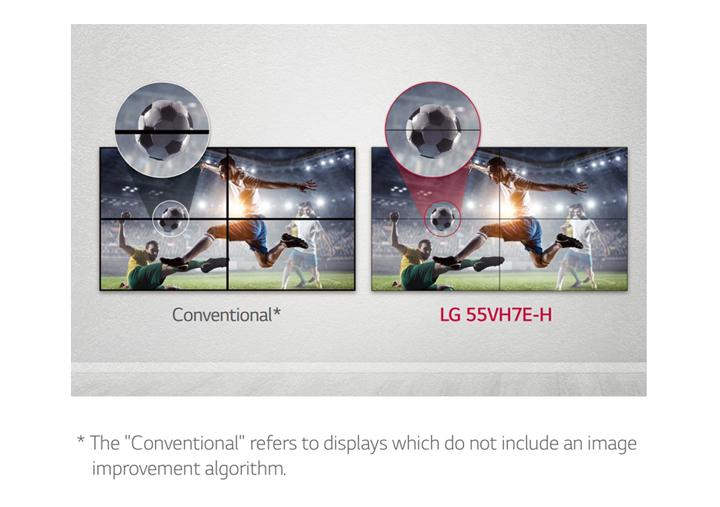 55VH7E giúp giảm khoảng cách màn hình