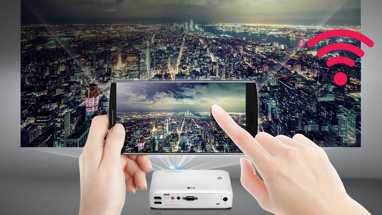 Kết nối không dây giữa điện thoại và máy chiếu