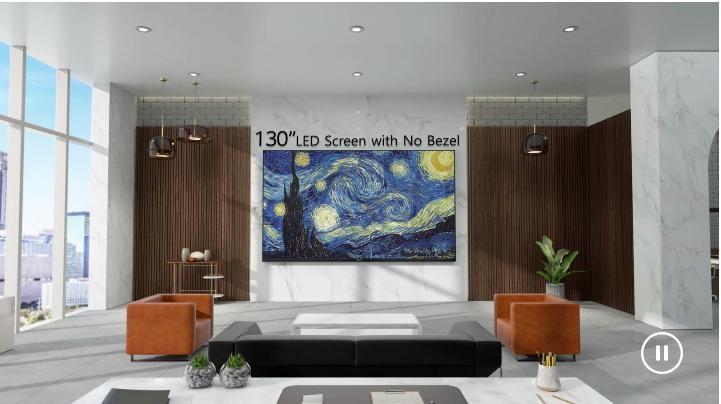 Màn Hình LED LAA015F có màn hình lớn 130 inch