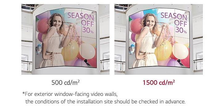 Màn hình ghép LG hiển thị hình ảnh rõ ràng sống động