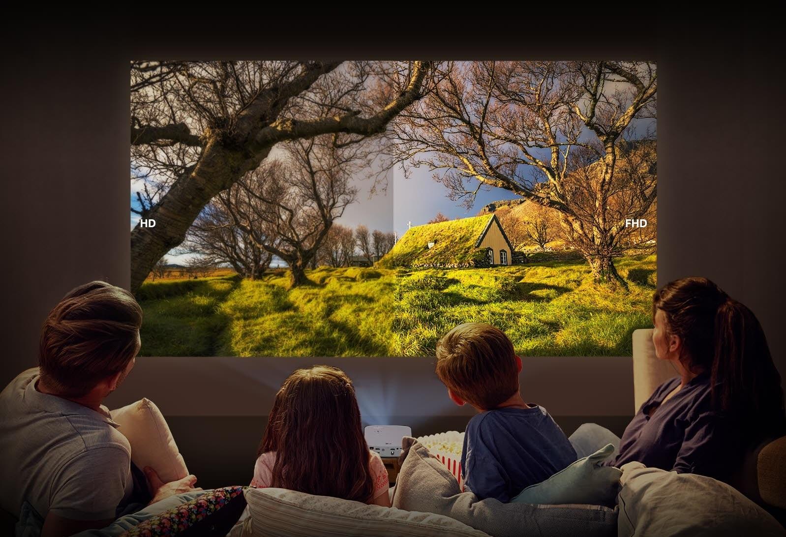 Máy chiếu PF50KG có độ phân giải Full HD