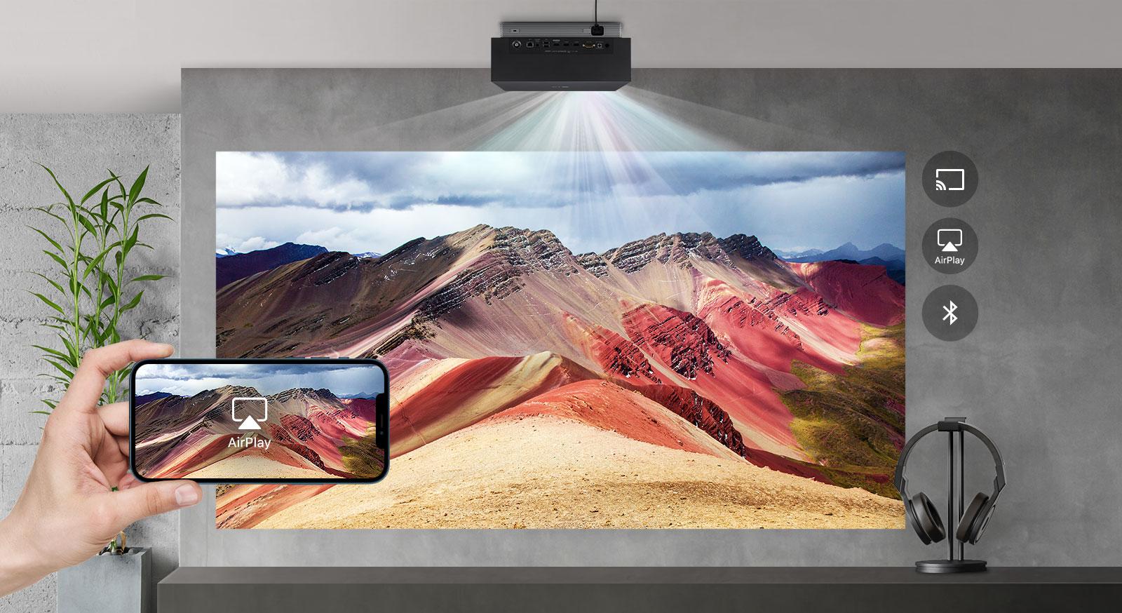 Máy chiếu có kết nối không dây đa dạng