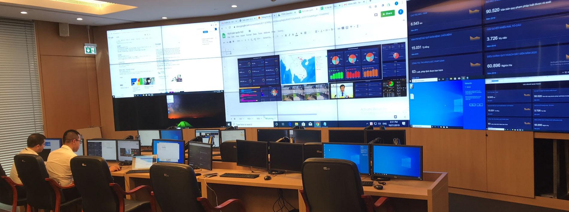 Hệ thống màn hình ghép trung tâm điều hành - Slider
