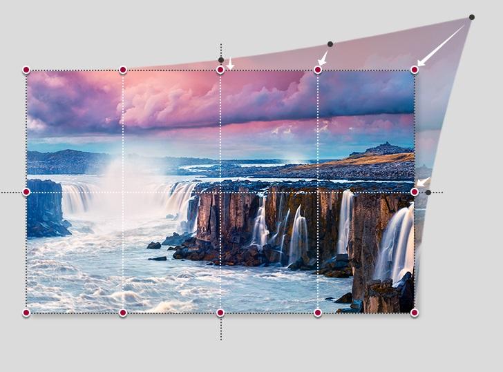 điều chỉnh màn hình hiển thị qua 12 điểm