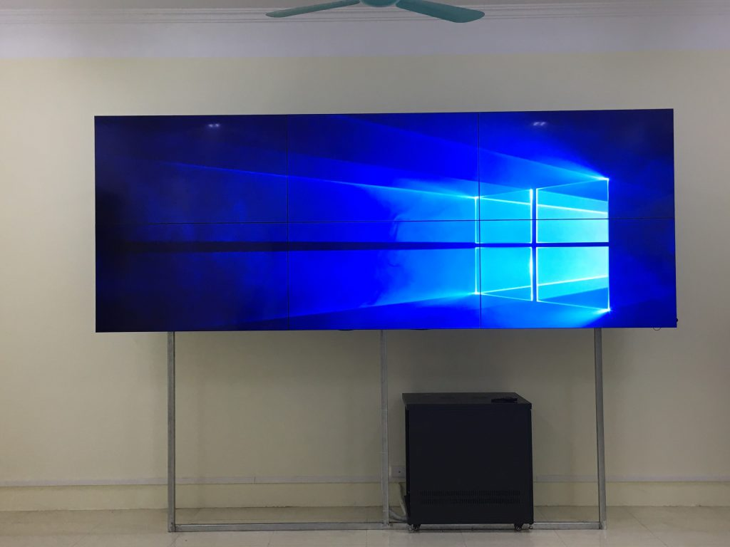 Test màn hình tại trung tâm điều hành Yên Bái