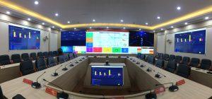 lắp đặt màn hình ghép cho trung tâm điều hành học viện