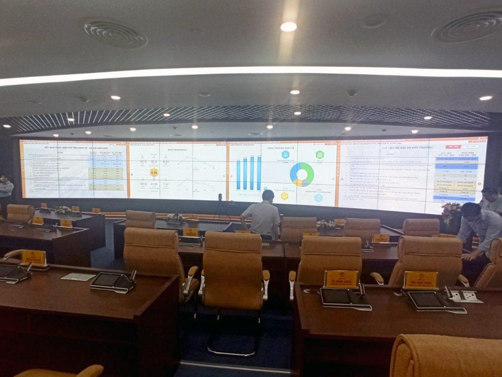 màn hình ghép cho trung tâm điều hành