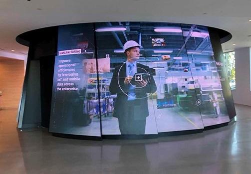 màn hình led cong trong nhà