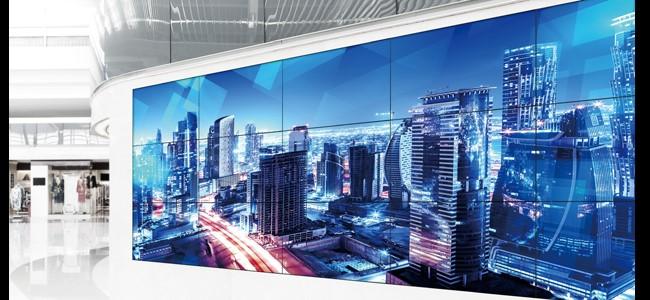 viền màn hình ghép mỏng tạo ra hình ảnh như trên một màn hình duy nhất
