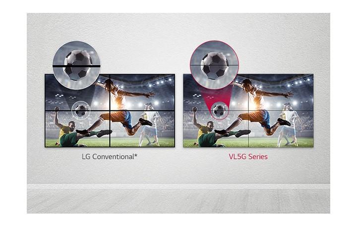 Màn hình ghép 49VL5G giúp giảm khoảng cách hình ảnh