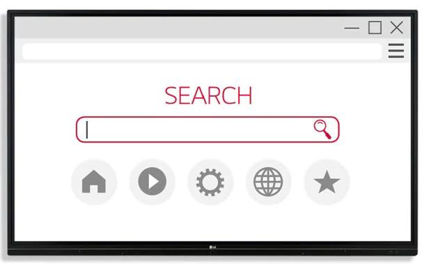 Trình duyệt web trên màn hình tương tác