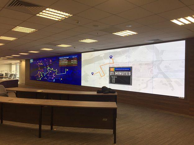 Màn hinh ghép LCD lắp đặt trong trung tâm giám sát