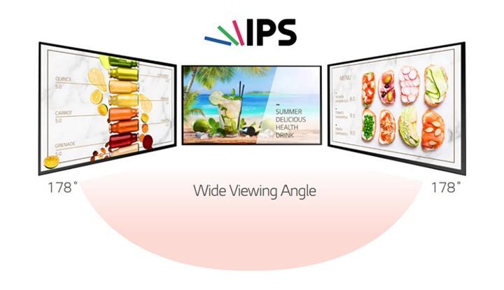 Màn hình biển báo ngoài trời XE4F-M sủw dụng công nghệ màn hình IPS