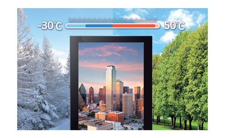 màn hình biển báo ngoài trời có phạm vi nhiệt độ hoạt động