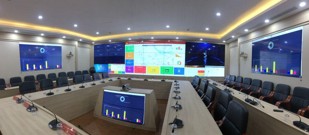 công nghệ màn hình ghép lcd cho trung tâm chỉ huy