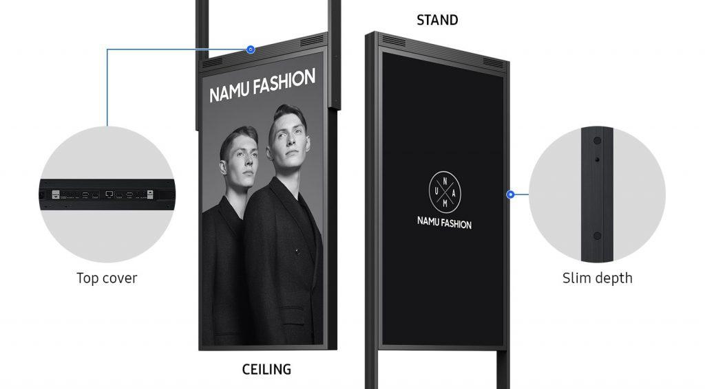 màn hình biển báo có thiết kế linh hoạt