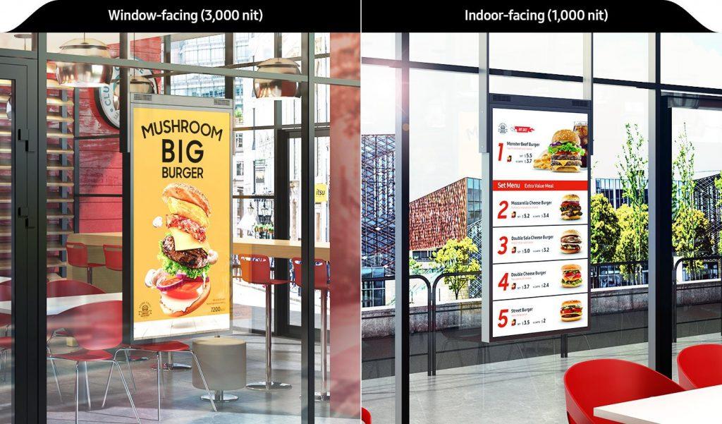 màn hình biển báo hiển thị nội dung 2 mặt