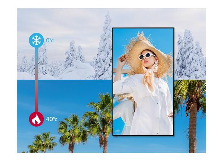 màn hình biển báo nhiệt độ hoạt động