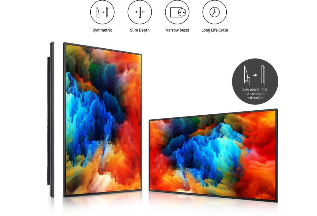 màn hình hiển thị QBR có thiết kế mỏng và đối xứng