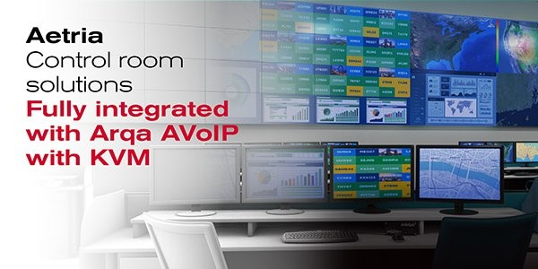 Hệ thống Arqa AVoIP tích hợp hoàn toàn với các giải pháp Aetria
