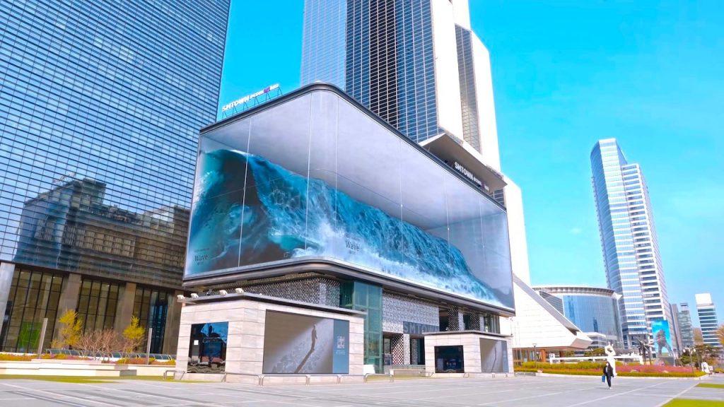 Công nghệ màn hình 3D Anamorphic Wave tại Seoul
