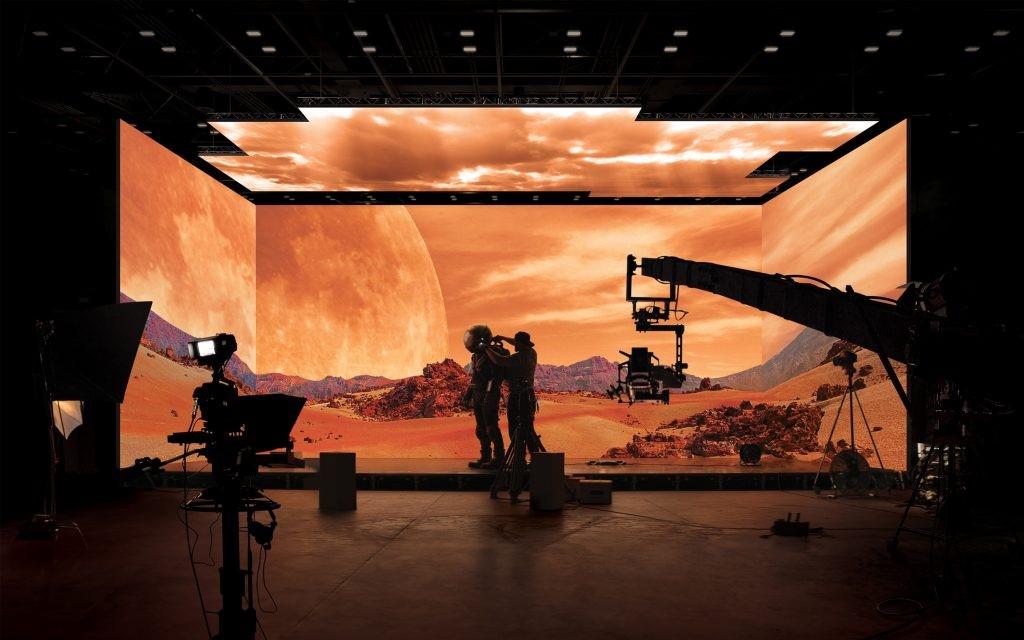 Phim trường ảo sử dụng màn hình LED của Samsung