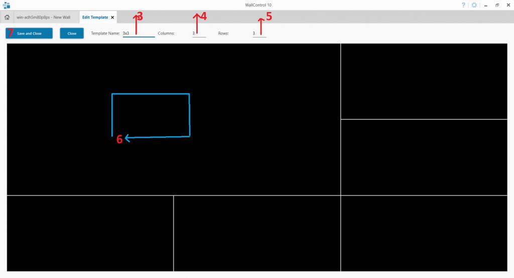 Tạo templates trên wallcontrol 10
