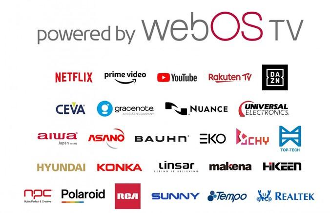 các hãng được lg cung cấp nền tảng webOS
