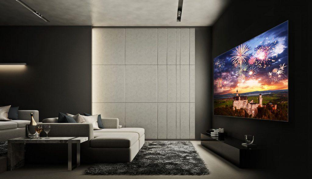 Trải nghiệm hình ảnh từ màn hình mỏng như giấy dán tường