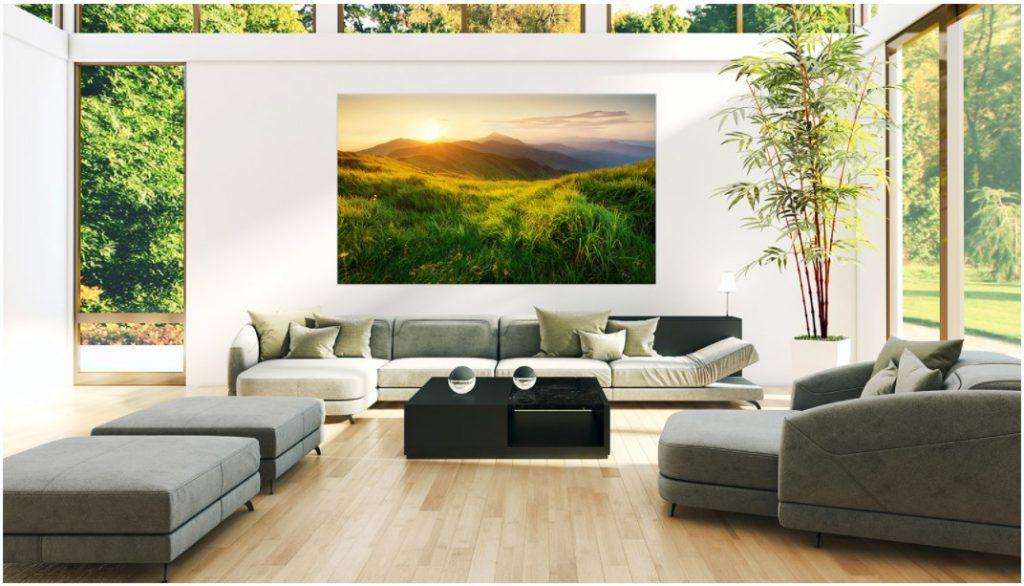 Wallpaper OLED sẽ làm nổi bật phòng khách của bạn